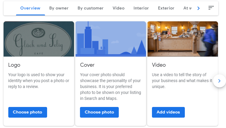 Add photos in Google My Business listing
