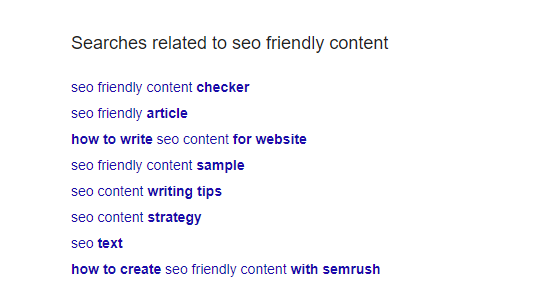 Write SEO Friendly Contents