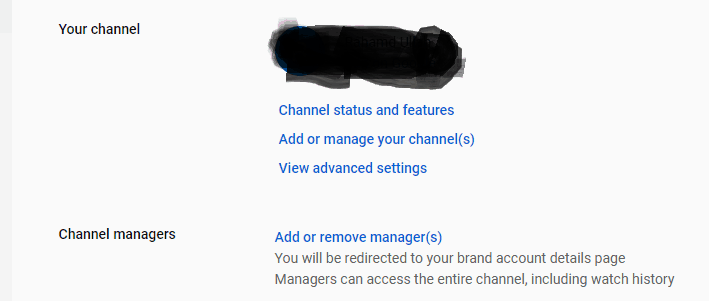 Add or Manage Channel